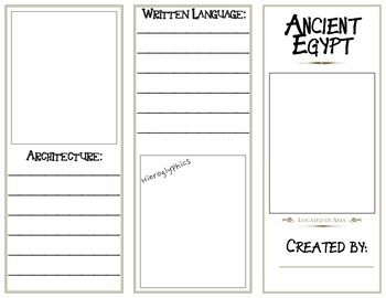 Ancient egypt brochures and egypt on pinterest for Travel brochure template ks2