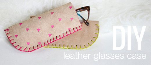 #DIY Leather Glasses Case - we love this project, especially if you want to get creative with #leather #stamping & printing for some fun embellishment.