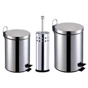 [ClubeDoRic] Lixeiras 3 e 5L + Escova sanitária - R$ 69,90