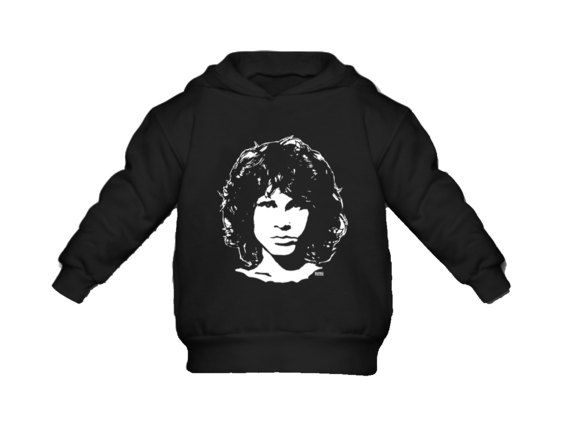 Jim Morrison Kids Hoodie, Rock Toddler Clothes, Customised Gift For Nephew, Unisex Kids Hoddie, Personalized Niece Hoodie, Rock Birthday / This unisex kids hooded sweatshirt feature unique Jim Morrison print so your young one wears warm cosy hoodie with print of their favourite artist. #Jim_Morrison #rock #hoodie #organic #cloths