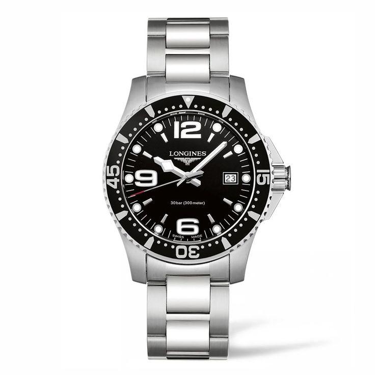 L37404566 Ανδρικό quartz ρολόι LONGINES HydroConquest με μπρασελέ, μαύρο καντράν και ημερομηνία | Ρολόγια LONGINES ΤΣΑΛΔΑΡΗΣ στο Χαλάνδρι #hydroconquest #longines #ρολόι