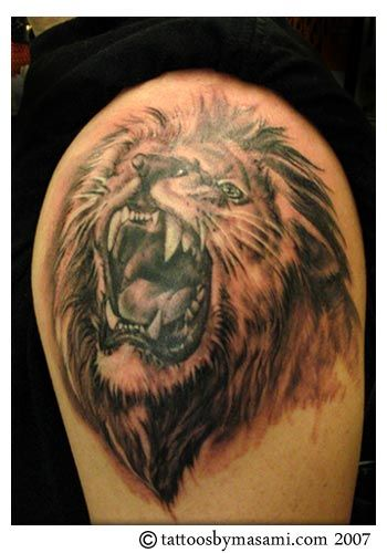 Latest Lion Tattoos: lion head tattoos