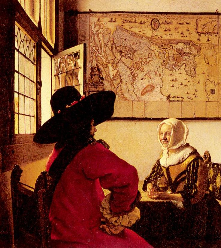 Vermeer Officer And Laughing Girl. Ян (Йоханнес) Вермеер