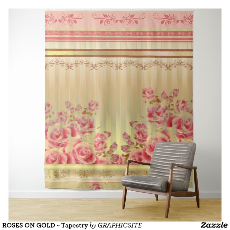 ROSES ON GOLD ~ Tapestry