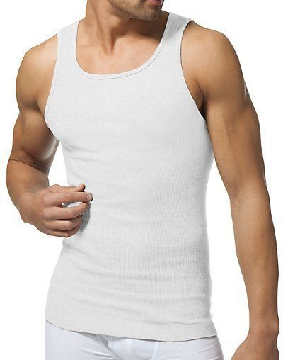 3 Mens Tank Top % Cotton A-Shirt Wife Beater Ribbed Undershirt White Muscle. $ Buy It Now. Free Shipping. Comfortable Fitness and Stretch elastic Tank Top great for training, sports,running or casual. Machine Washable and very durable so don't worried .