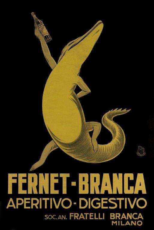 Vintage Italian Posters ~ #Italian #vintage #posters ~ Fernet Branca.