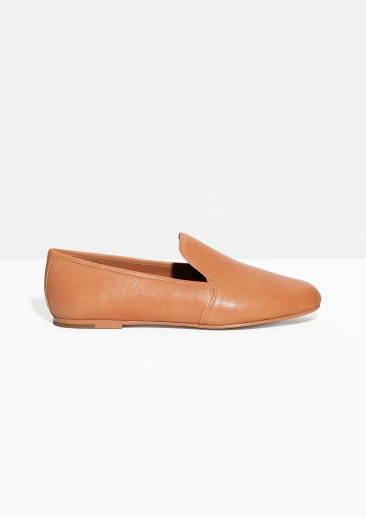 & Other Stories | Round Toe Leather Slippers