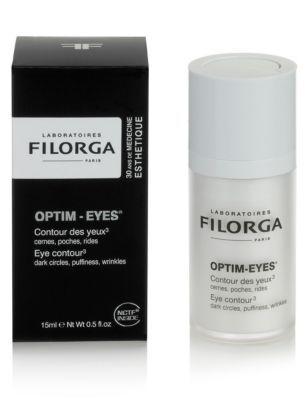 Filorga Optim-Eyes 15ml (Ολική επαναφορά της περιοχής των ματιών)    Η Κρέμα αυτή συνδιάζει μια αυθεντική συνεργεία συστατικών για τρπλή δράση στην περιοχή των ματιών : Στις ρυτίδες στις σακούλες και στους μαύρους κύκλους.