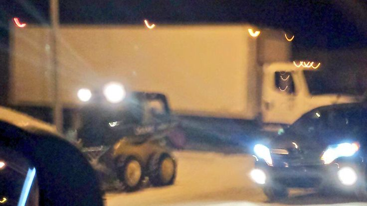 Calgary Snow Removal. Another bobcat stuck in a traffic jam. That's 2 in 2 days. #snowremoval #YEG #Calgary #snow