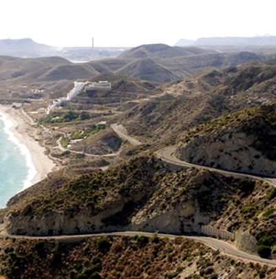 The Mojacar - Carboneras coast road, a spectacular drive if you can handle the heights...