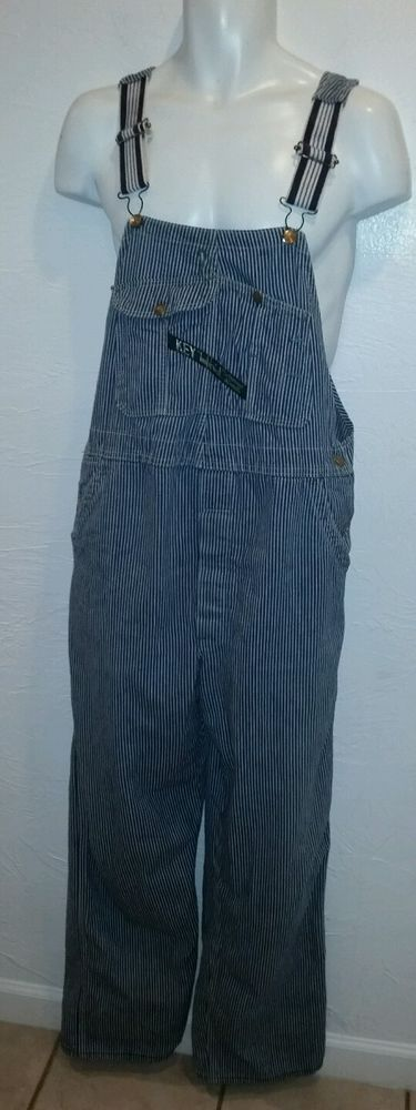 Vintage Key Imperial hickory striped overalls #Key #Overalls