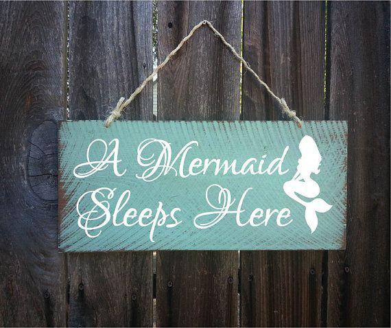 mermaid decor mermaid sign mermaid decoration by SurfShackSigns