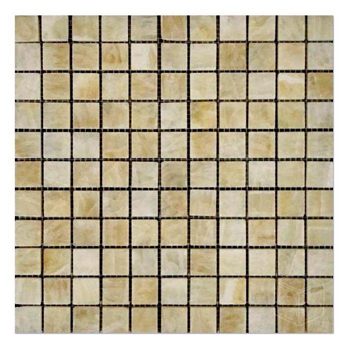 Honey Onyx Mosaic Polished 1x1