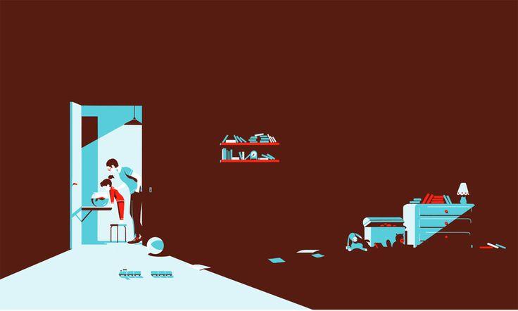 Tom Haugomat - Illustration for  Volkswagen Tiphaine-illustration  #kids #parents