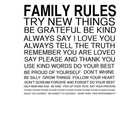 family rules quotes