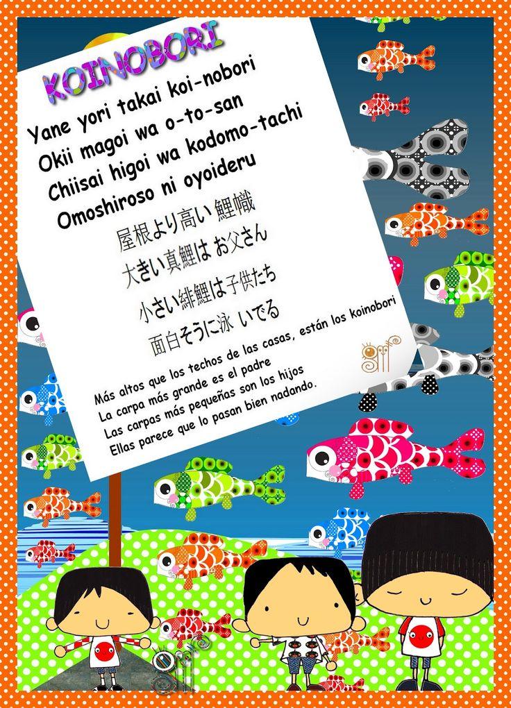 KODOMO NO HI   es el DÍA DE LOS NIÑOS en Japón.      Se celebra el 5 de Mayo y tiene unos invitados muy especiales,   los KOINOBORI  ...