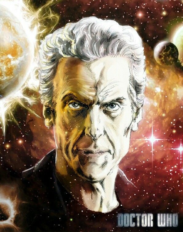 Attack Eyebrows - artwork by Simon Williams. #PeterCapaldi #12thDoctor #DoctorWho