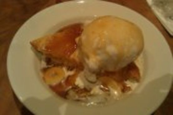 Ohana Bread Pudding With Bananas Foster Sauce