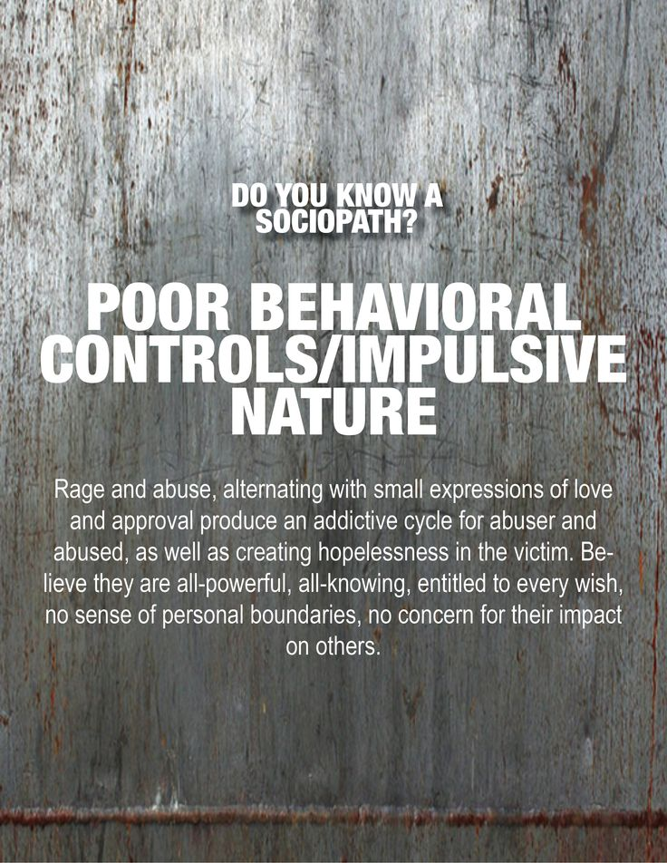 the major characteristics of a sociopath The major characteristics of a sociopath is traditionally defined as a personality disorder characterized by persistent antisocial behavior who are uncooperative.