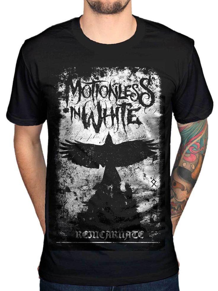 2017 Fashion Men'S Motionless In White Phoenix T Shirt Metal Rock Indie Chris Cerul Design Short Sleeve Tees #Affiliate