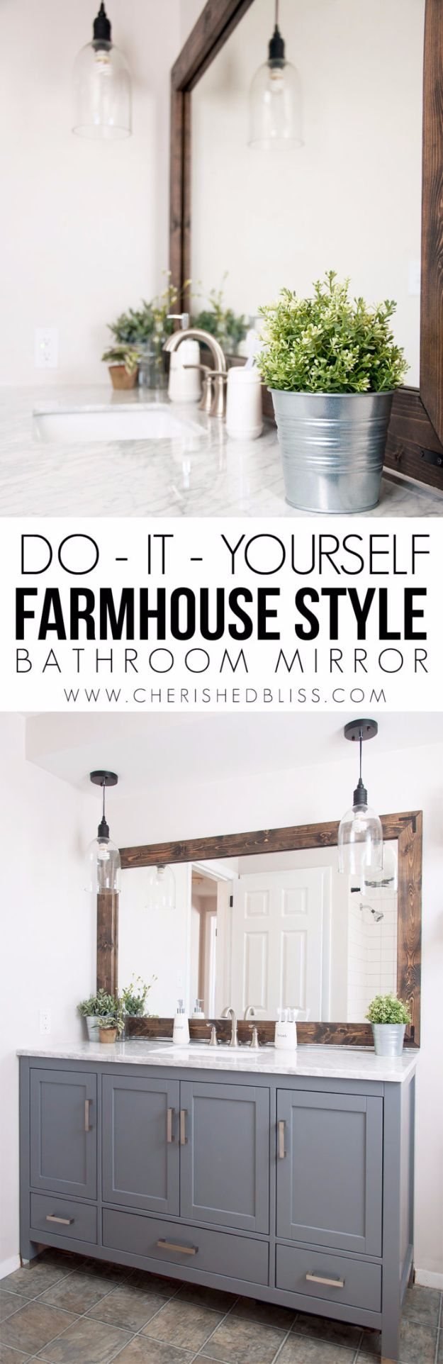 41 more diy farmhouse style decor ideas farmhouse bathroom mirror tutorial creative rustic ideas