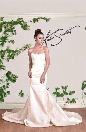 Austin Scarlett - Strapless Fit and Flare in Taffeta