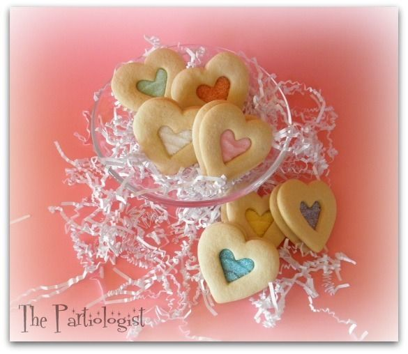 Decorated Heart cookies at a Valentine's Party #valentine #cookies