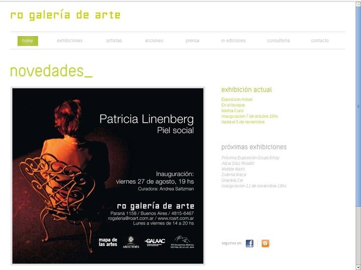 Diseño Web para Galeria de Arte Ro  de la ciudad de Rosario