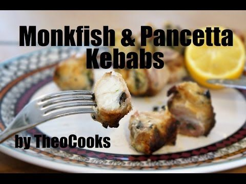 Delicious Monkfish & Pancetta Kebabs (Souvlaki) cooked on Greek BBQ by Theo Michaels, Masterchef - YouTube