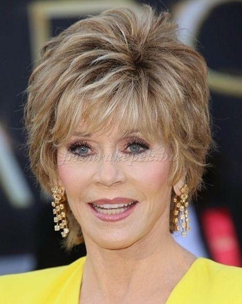 rövid frizurák 50 feletti nőknek Jane Fonda rövid frizura Molet divat