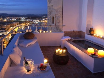 La Torre del Canónigo ~ an historic hotel in a fourteenth century tower overlooking the Mediterranean sea in Ibiza, Spain