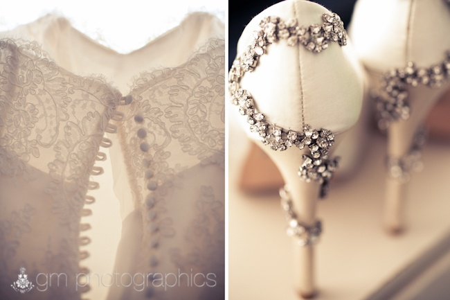 Stunning bridal details.. we love these shoes!