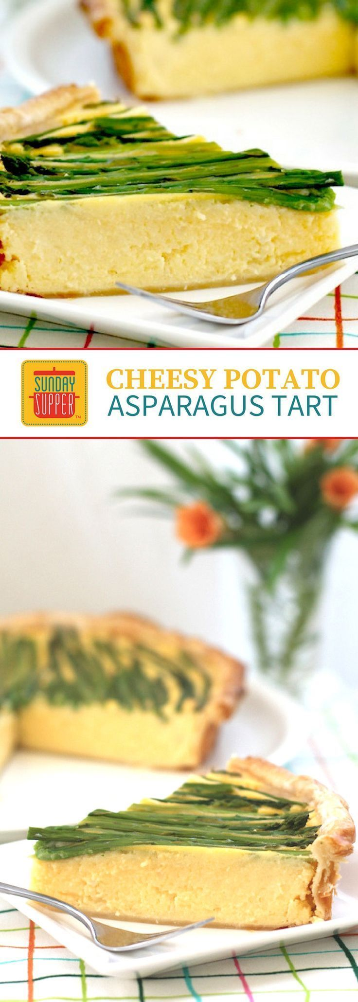 치즈 포테이토 아스파라거스 타르트