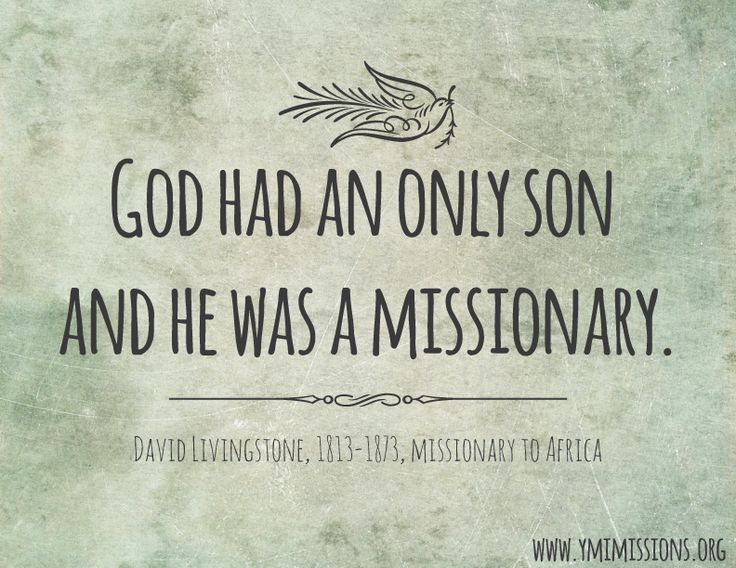 David Livingstone quote. #missions #quotes