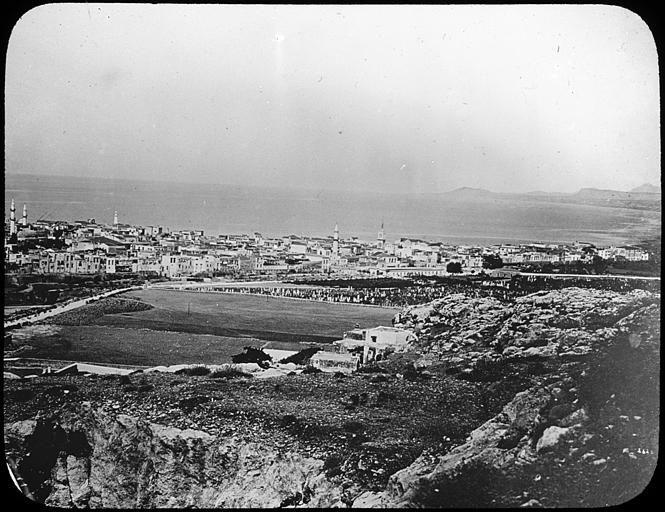 """Grèce ; Crète ; Rethimo Vue générale de la ville Musée pédagogique PublicationLivret pédagogique : """"La Crête"""" (1913)"""