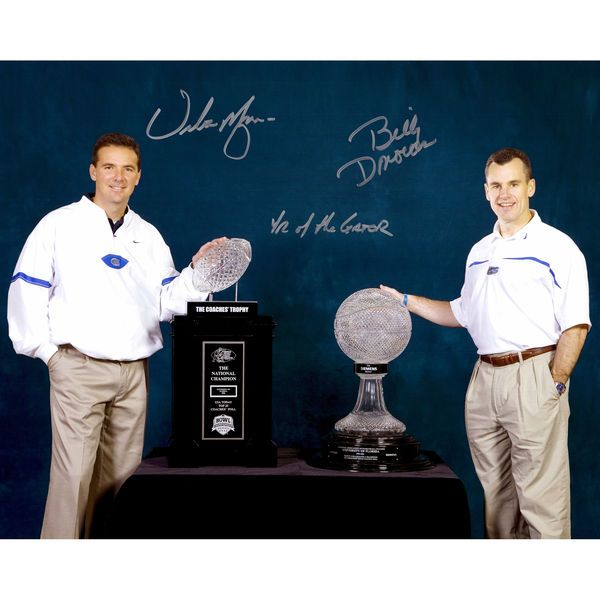"""Billy Donovan, Urban Meyer Florida Gators Fanatics Authentic Autographed 16"""" x 20"""" Trophies Photograph with Year of the Gator Inscription - $129.99"""