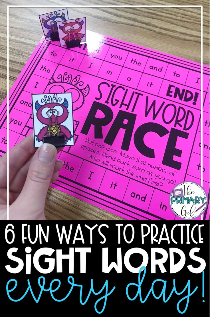8 Fun Ways to Practice Sight Words Every Day
