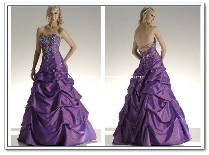Purple and white wedding dresses wedding dress purple for Wedding dress with purple embroidery