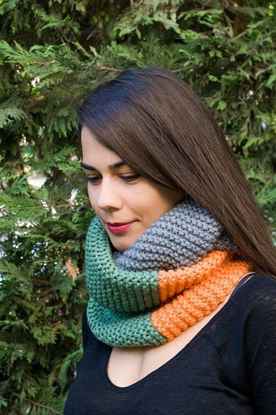 Infinity ScarfOversized ScarfHand Knit Long by PlexisArt on Etsy