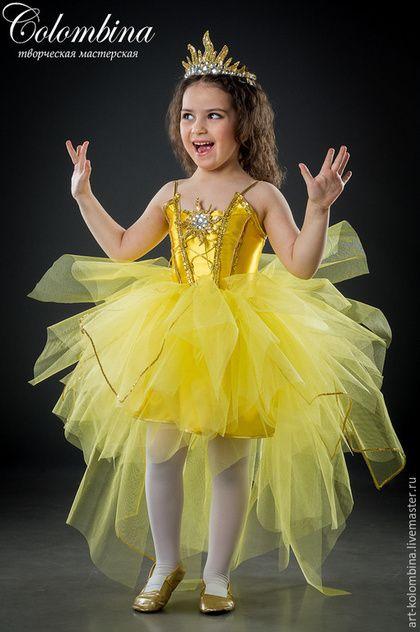 Детские карнавальные костюмы ручной работы. Ярмарка Мастеров - ручная работа. Купить Костюм солнышка. Handmade. Желтый, солнышко, фатин