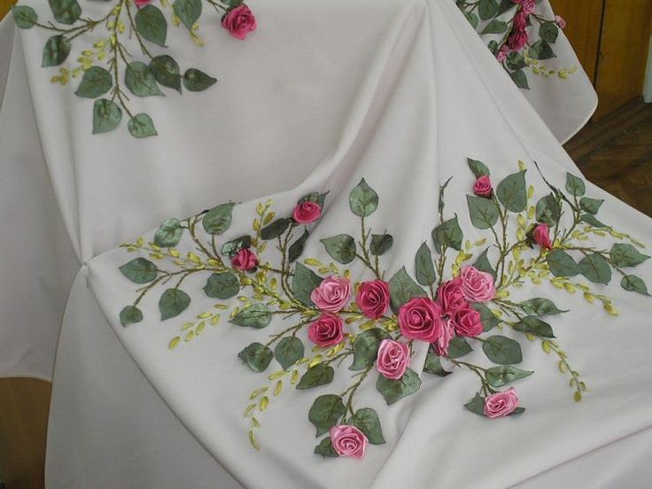 Best images about ribbon embroidery on apparel