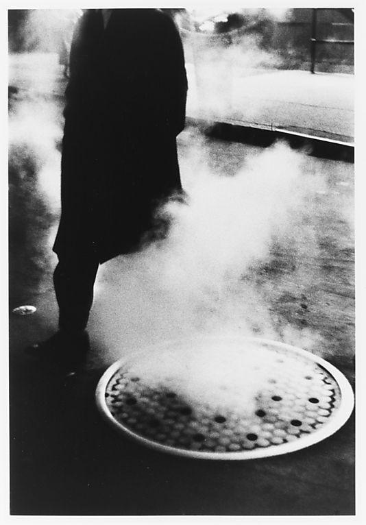 Man Near Manhole, Times Square, New York City Louis Stettner (American, born New York, 1922) #truenewyork #lovenyc