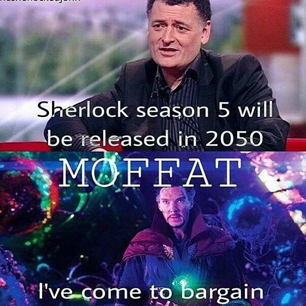 Más bien sigo así: como moffat  Dejas doctor who y ahora esto Vamos a matarte
