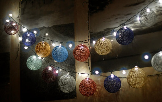 yarn ball string lights Holiday Decor Ideas Pinterest
