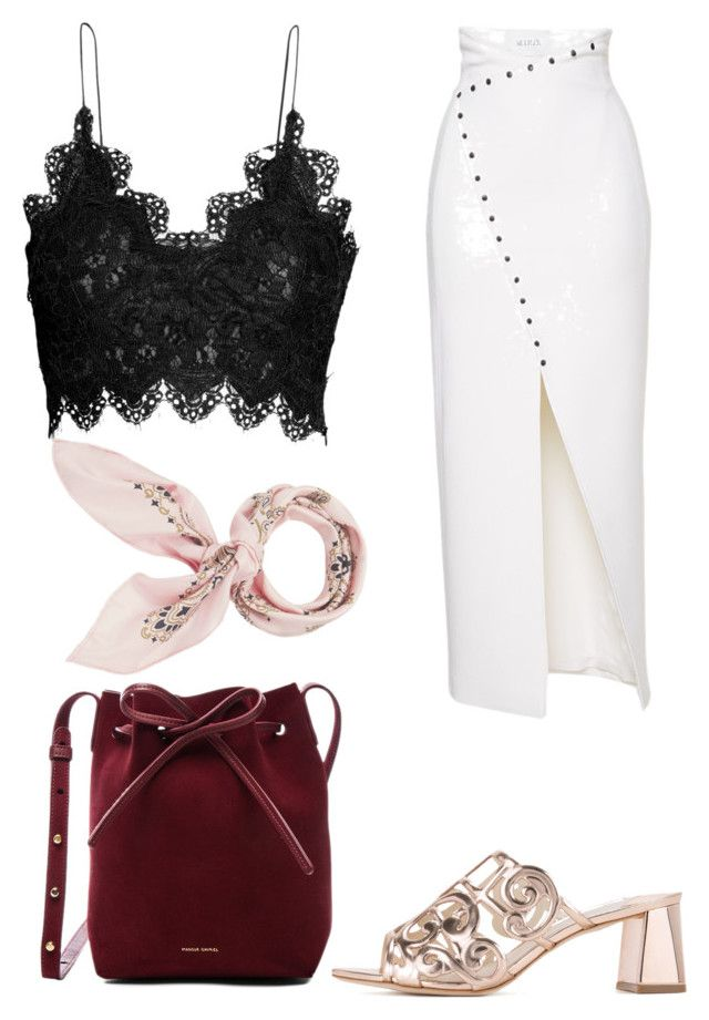 Untitled #2007 by filipaloves on Polyvore featuring polyvore fashion style Sophia Webster Mansur Gavriel Manipuri clothing