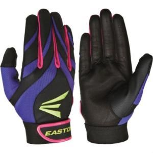 Easton Synergy 2 Fastpitch Batting Gloves-Pair Delivery Australia wide Women`s sizing Vented flex zones on back of hand, fingers, and thumb combine breathability with an ideal fit Genuine leather palm Synthetic thumb for added durability
