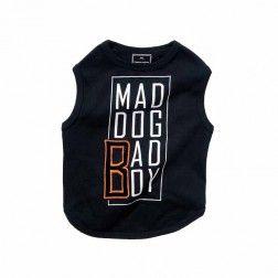 Camiseta Mad Dog Negro Para Perro