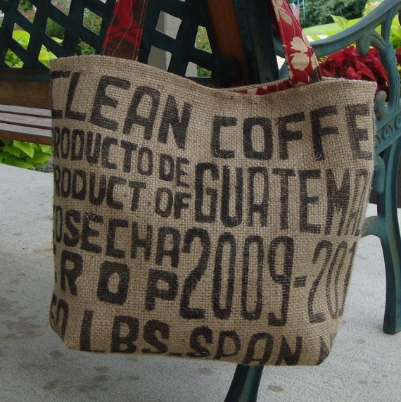 Coffee Bag Tote project for tomorrows Monday Funday!
