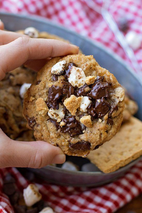 S'mores Chocolate Chip Cookies   liifemadesimplebakes.com