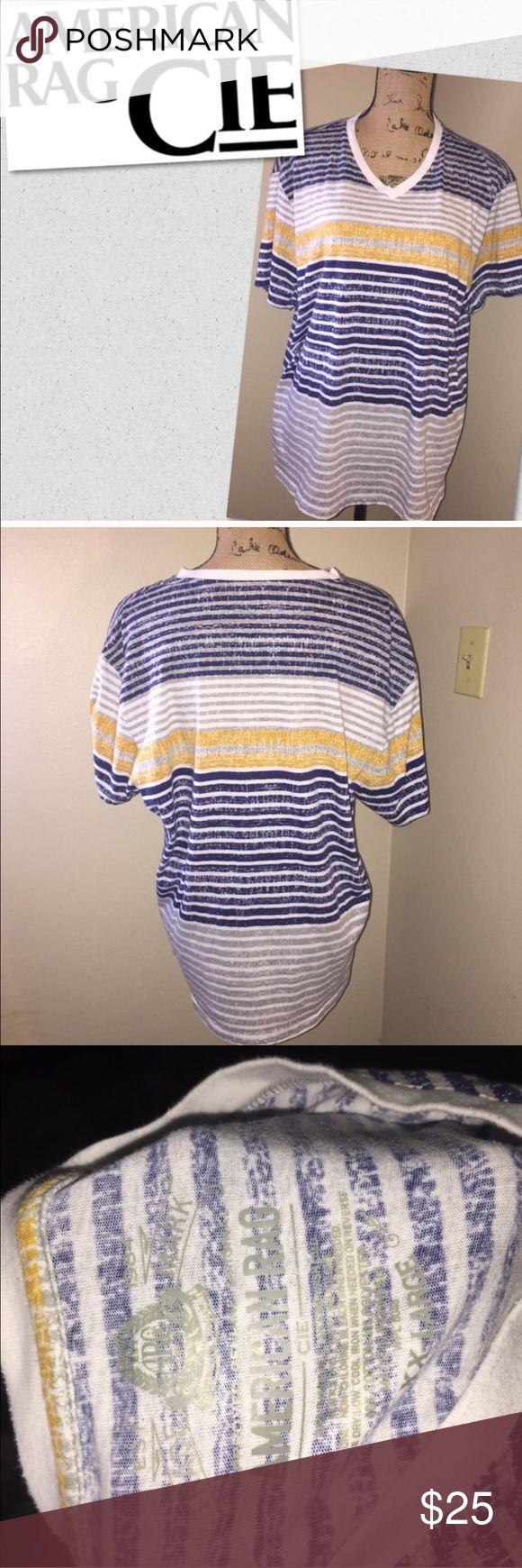 American rag cie t shirt strips size xxl American rag cie t shirt strips size xxl American Rag Tops Tees - Short Sleeve